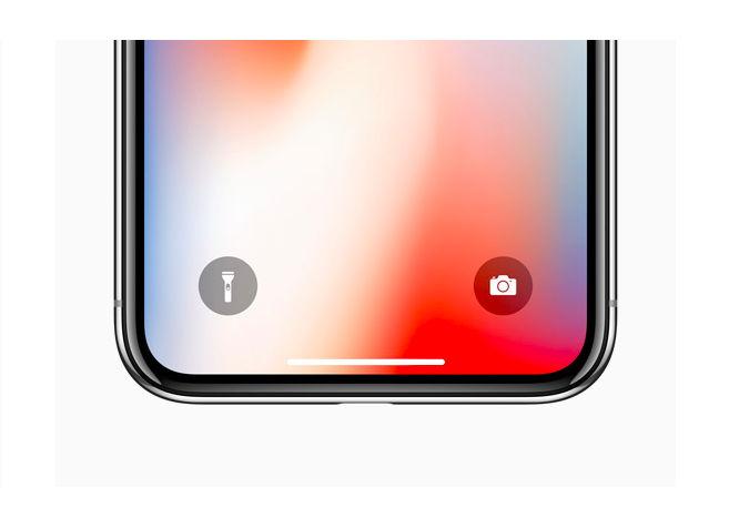 iPhone X экран блокировки