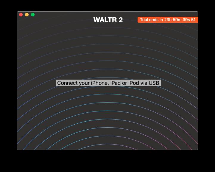 Программа WALTR 2 подключение iPhone