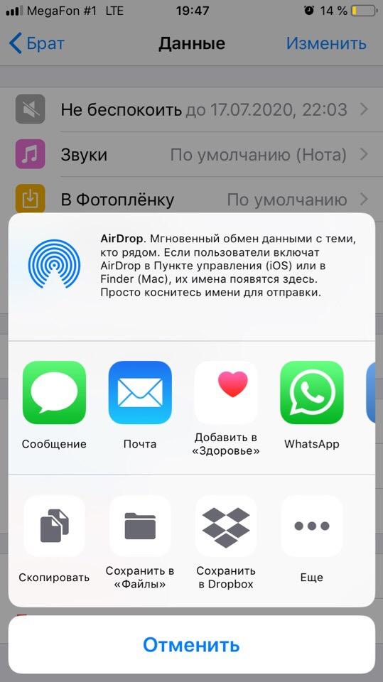 WhatsApp отправка чата по почте