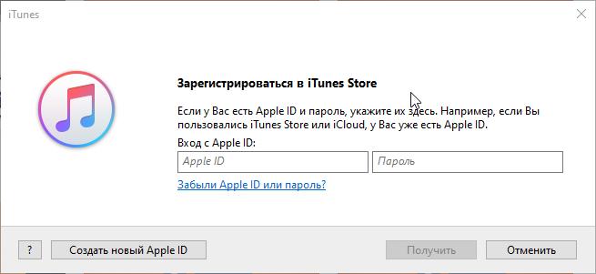 Ввод данных в iTunes