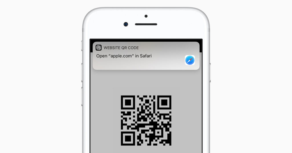 QR-код на Айфоне