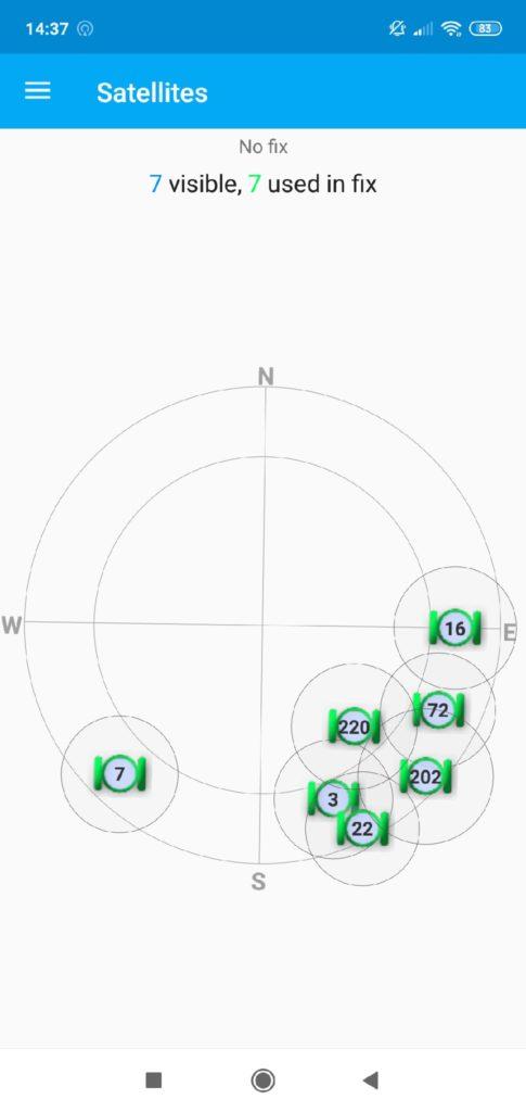 GPS Essentials активные спутники