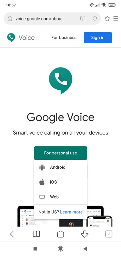 Google Voice сервис