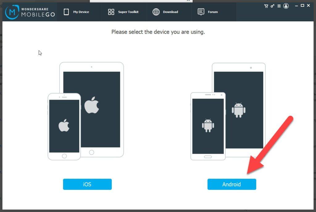 MobileGo выбираем Андроид