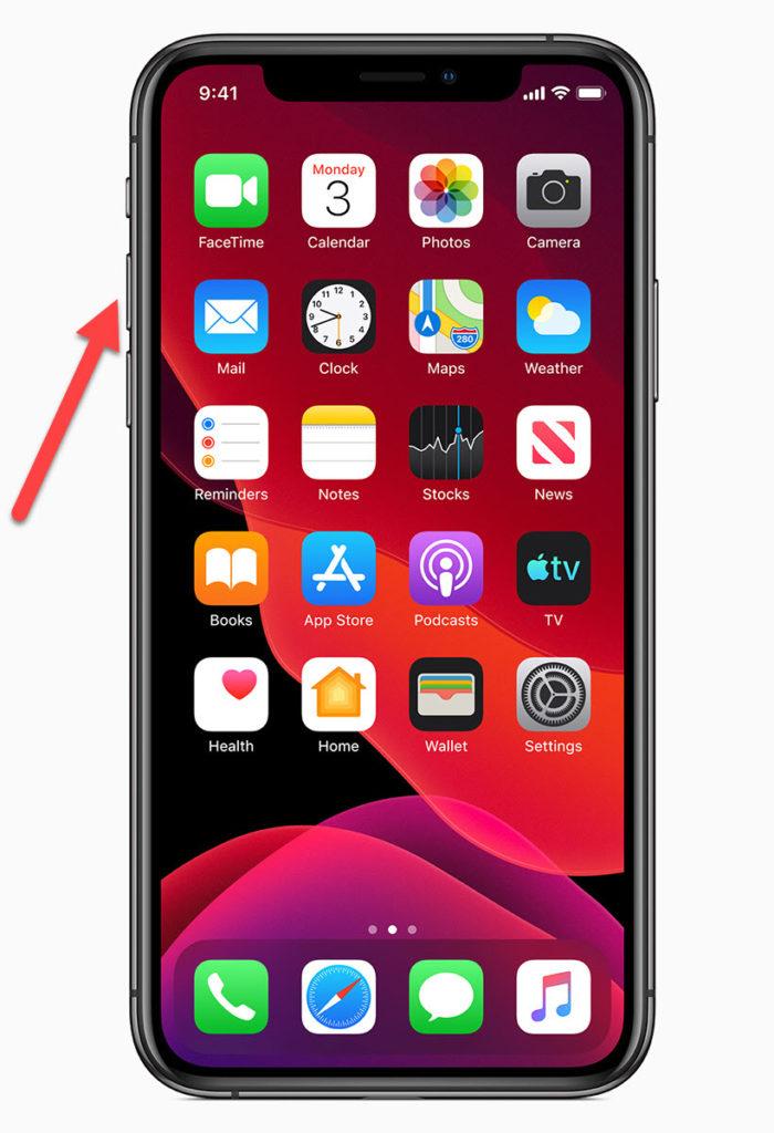iPhone 11 Клавиша увеличения громкости