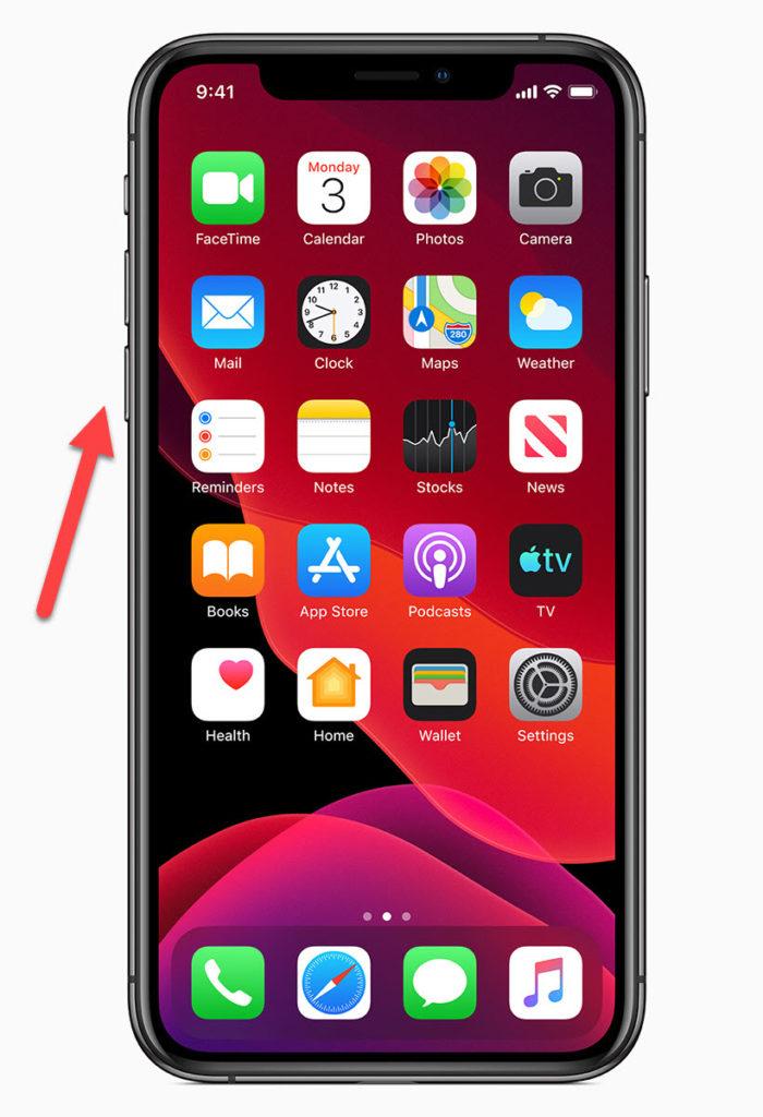 iPhone 11 Клавиша уменьшения громкости
