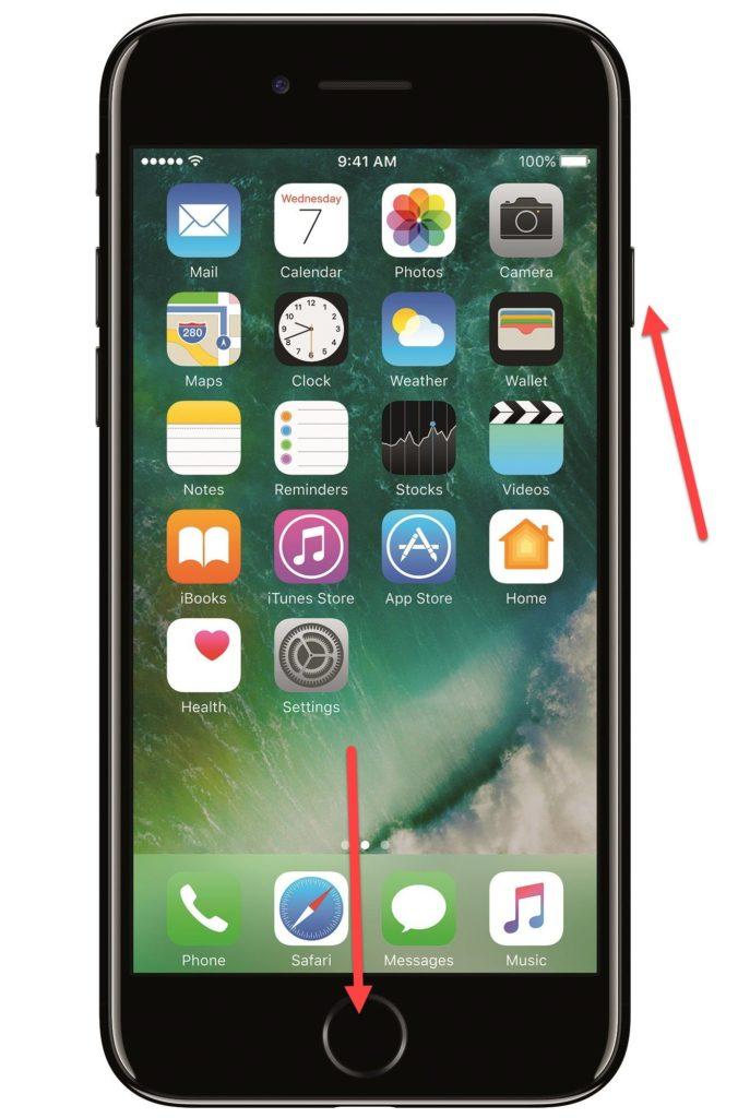 iPhone 7 Home и Power