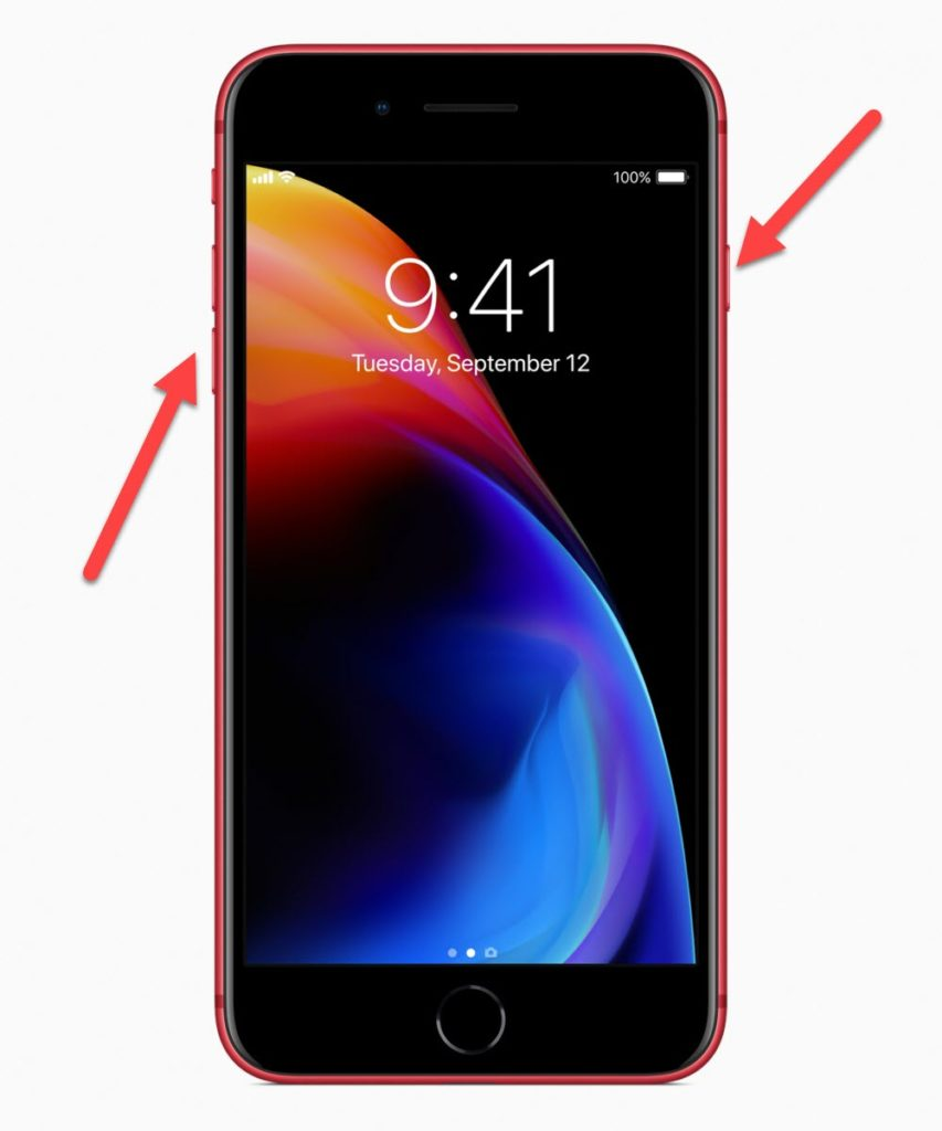 iPhone 8 Питание и Понижение громкости