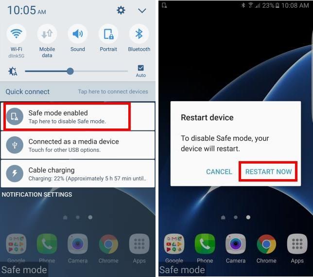 Безопасный режим Samsung
