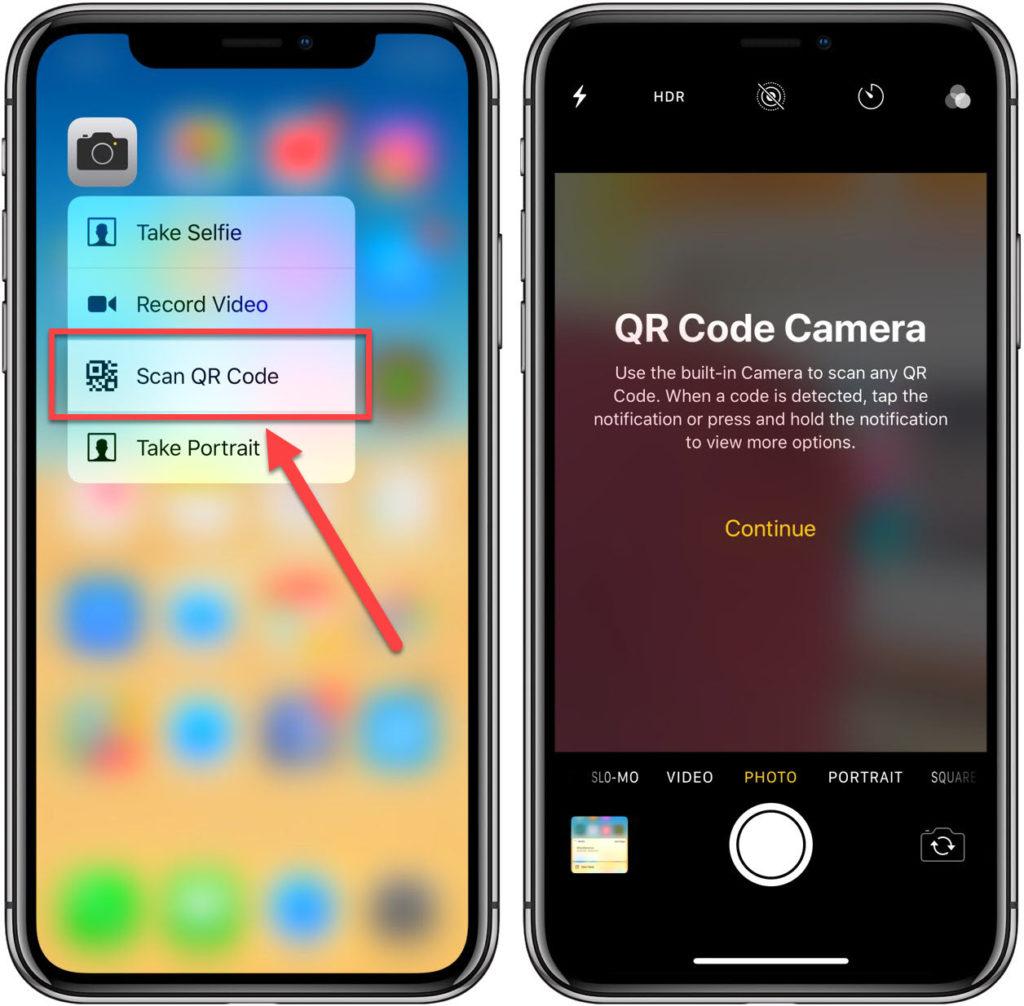 Сканирование QR через камеру в 3D Touch