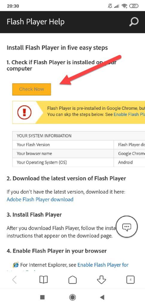 Flash Player проверка на сайте