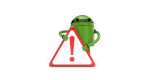Андроид с восклицательным знаком
