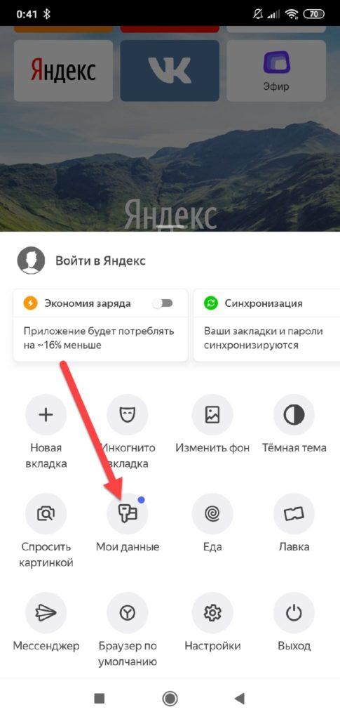 Яндекс Мои данные
