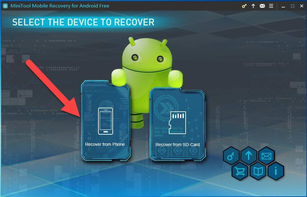 MiniTool Mobile Recovery Recover from phone