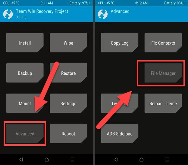 TWRP Advanced File Manager