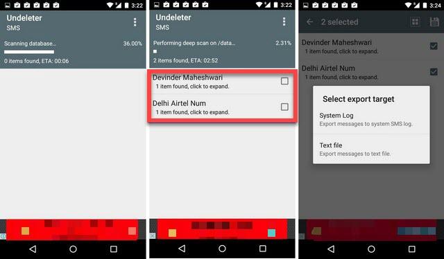 Undeleter Android восстановление