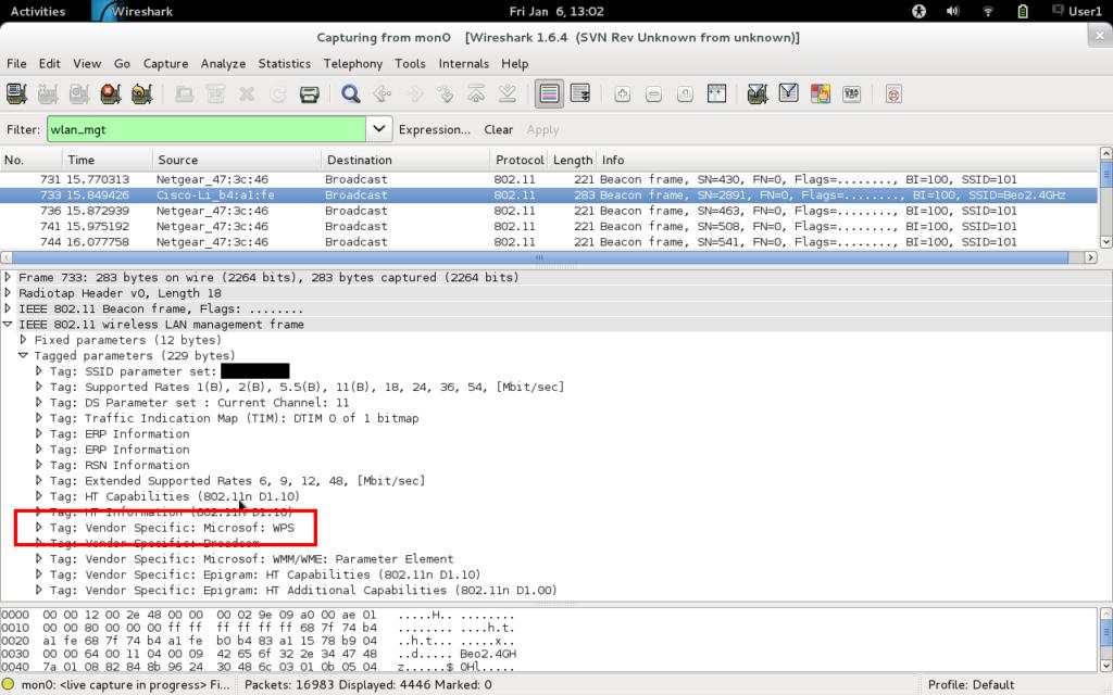 WireShark сканирование