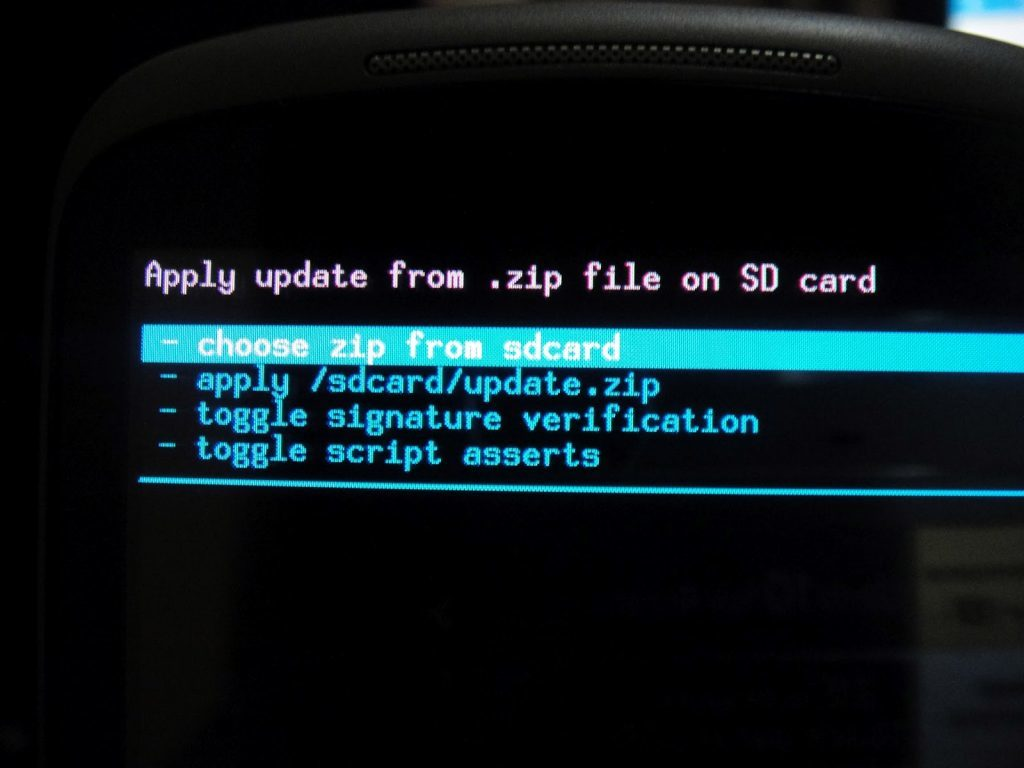 choose zip from sdcard
