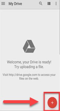 Google My Drive значок плюса