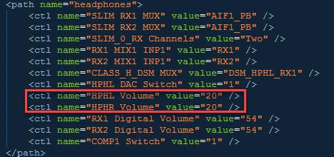 Андроид изменение звука через конфигурацию файла
