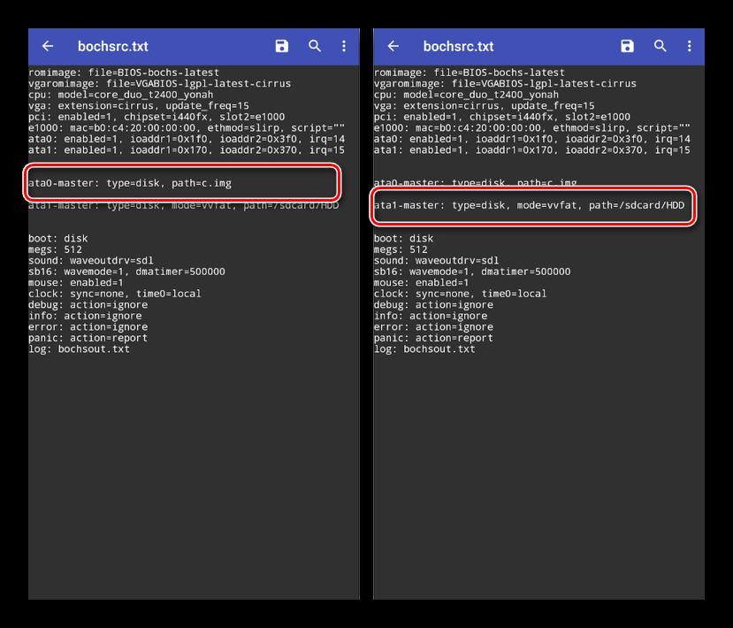 Программа Bochs записи в текстовом файле