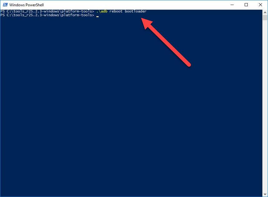 adb reboot bootloader