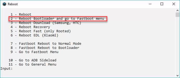 ADB Run Reboot Bootloader