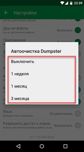 Dumpster автоочистка