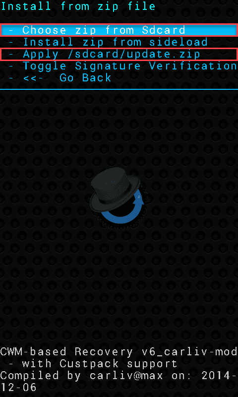CWM Update zip
