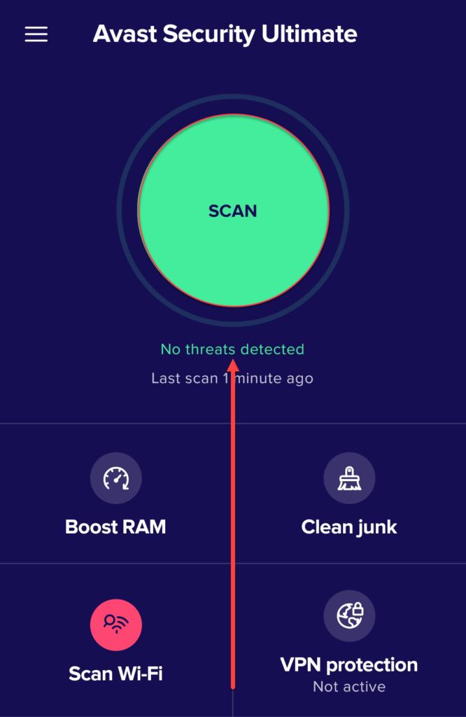 Проверка Андроида на вирусы Авастом