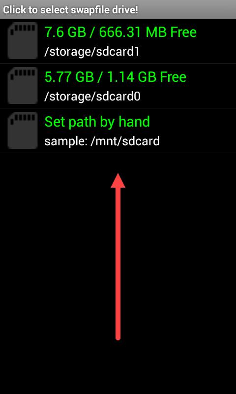Приложение SWAPit RAM Expander размещение SWAP