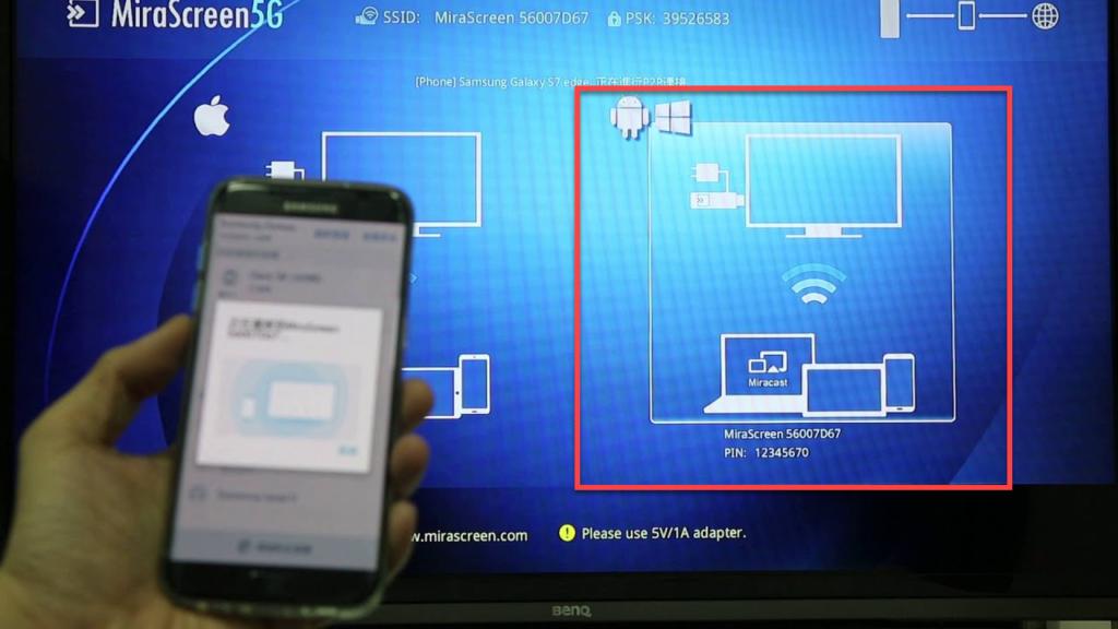 Подключение Андроида к телевизору через Miracast - настройка
