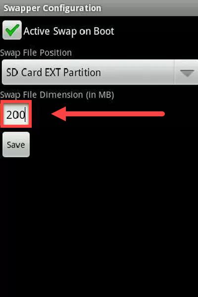 Приложение Swapper for ROOT размер оперативной памяти
