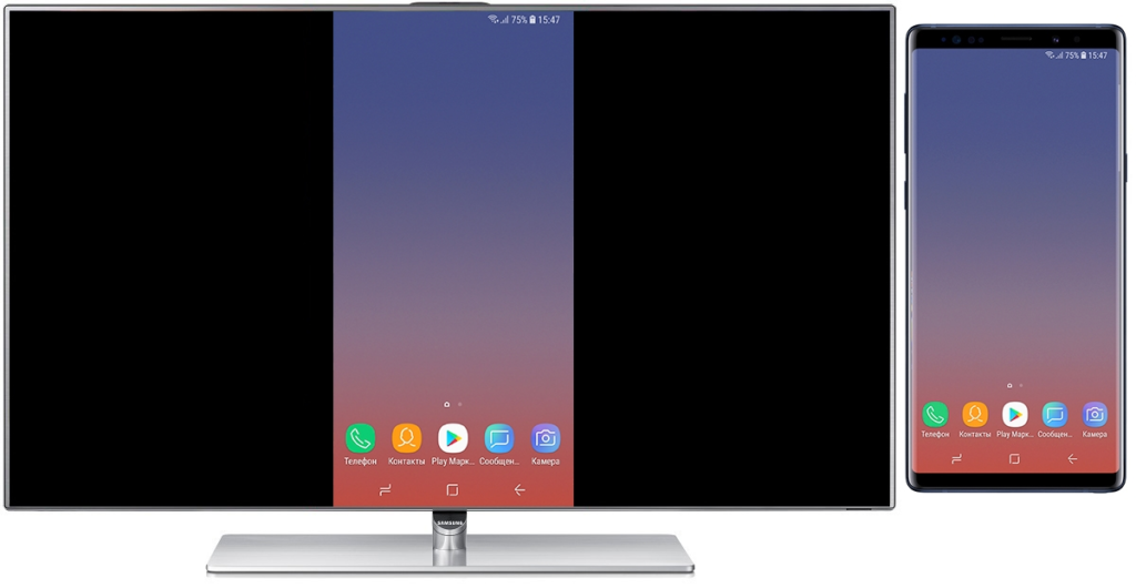 Подключение Андроида к телевизору через Screen Mirroring - вывод изображения