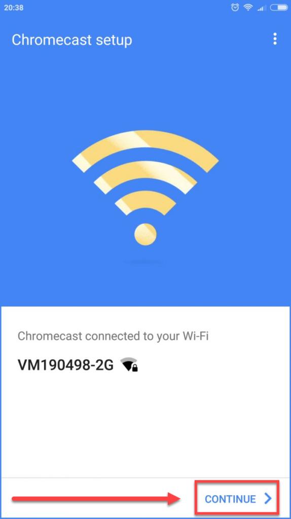 Подключение Андроида к телевизору через Chromecast - приложение Google Home успешное соединение