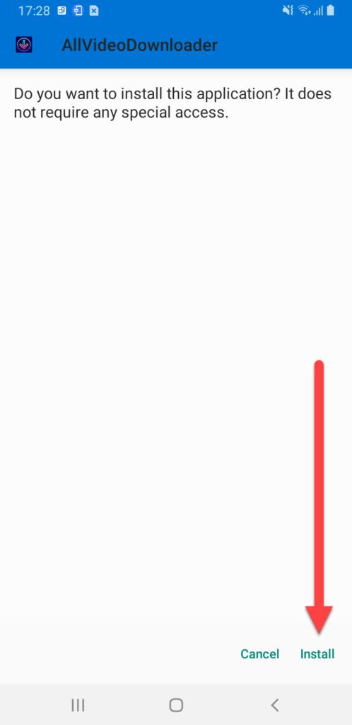 Приложение «Загрузчик всех видео бесплатно» установка приложения