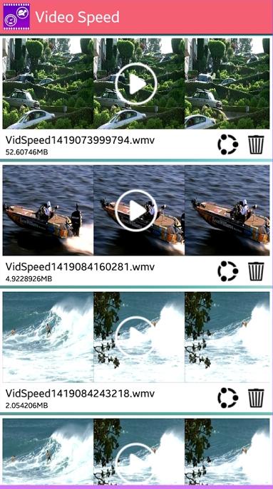 Приложение Video Speed Android выбор видео