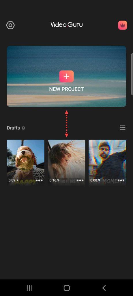 Приложение Video.Guru — Video Maker выбор файла