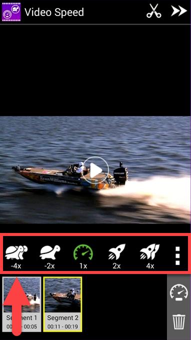 Приложение Video Speed Android задать скорость