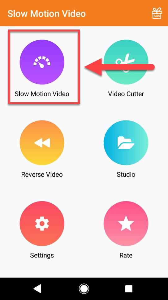 Приложение Slow Motion Video Maker другой фирмы