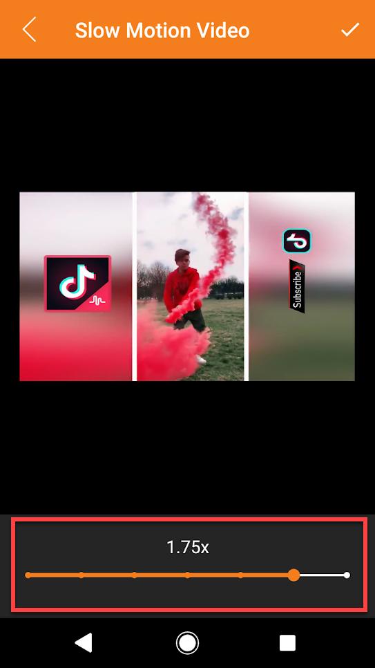 Приложение Slow Motion Video Maker выбор ролика