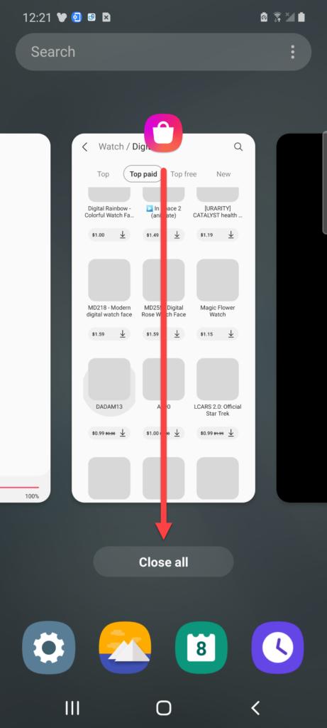 Очистка фоновых приложений Андроид