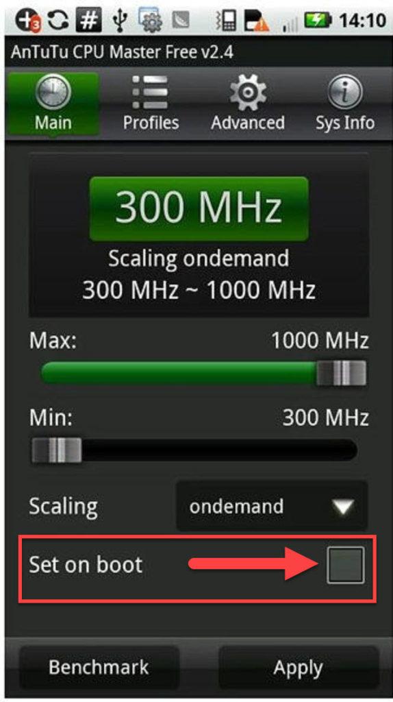 AnTuTu CPU Master Set on Boot