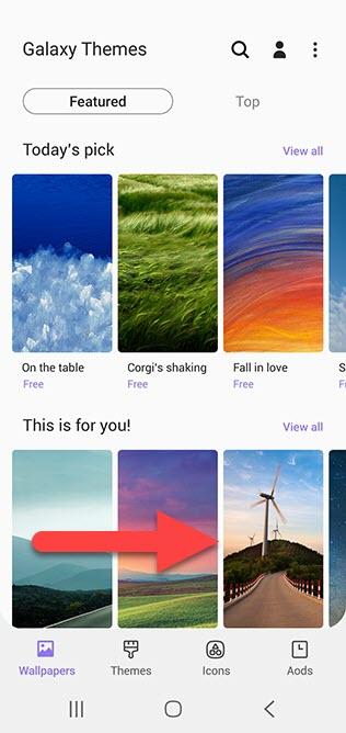 Samsung Android выбор темы