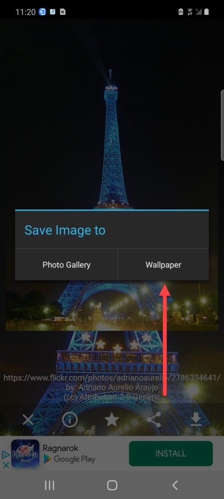 Wallpapers HD установка обоев