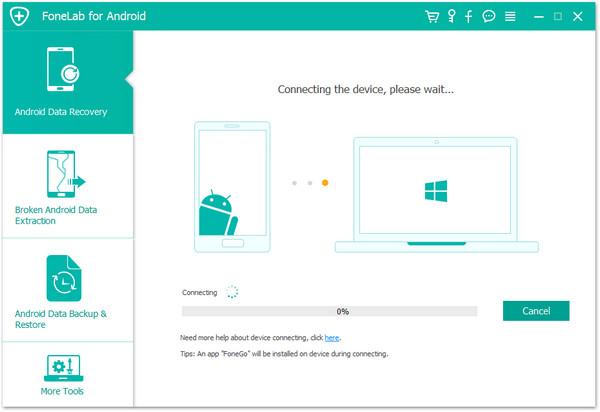 Fonelab for Android подключение смартфона