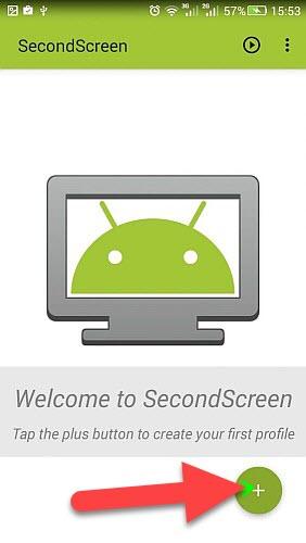 Приложение SecondScreen значок плюс