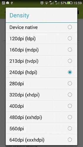 Приложение SecondScreen выбор разрешения смартфона