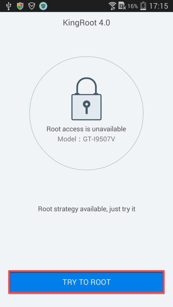 King Root Андроид Try to Root
