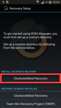 CWM ROM Manager установка